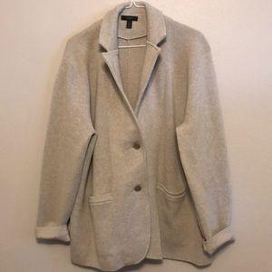 J Crew Merino Wool Sweater Blazer
